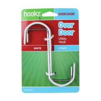 Over Door Hooks Steel (2 pack)