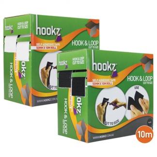 Hookz Hook & Loop Tape 10m Roll