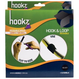 Hookz Hook & Loop Reusable Wrap Tape 10m Roll