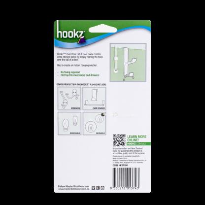 Hookz Over Door Hat & Coat Hook