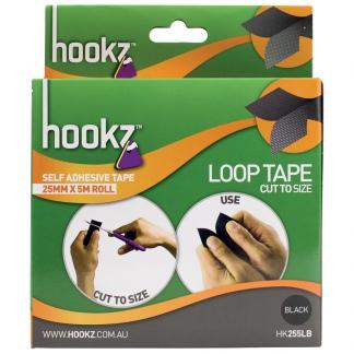 Hookz Hook & Loop Loop Tape 5m Roll