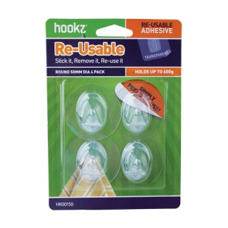 Re-Usable Round Small Hooks (4 pack)