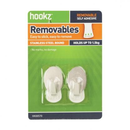 Removable Medium Utility Decor Hooks (2 pack)