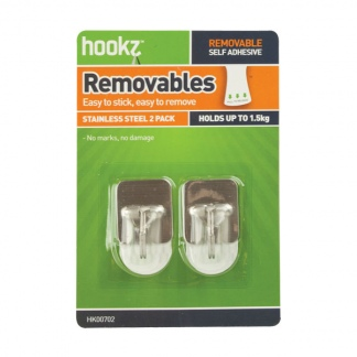 Removable Square Small Prong Hooks (2 pack)