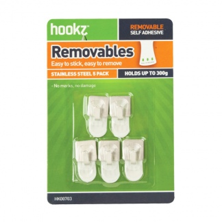 Removable Square Mini Hooks (5 pack)