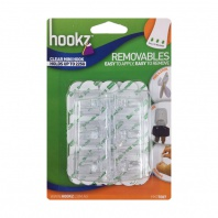 Hookz Removables Clear Mini Hook (12 pack)