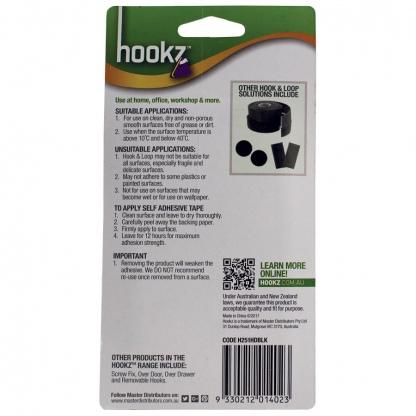 Hookz Hook & Loop Heavy Duty Tape 1m Roll