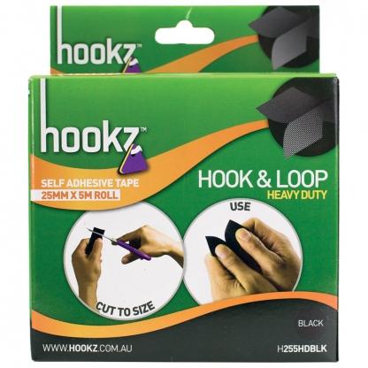 Hookz Hook & Loop Heavy Duty Tape 5m Roll