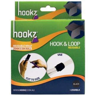 Hookz Hook & Loop Reusable Wrap Tape 5m Roll